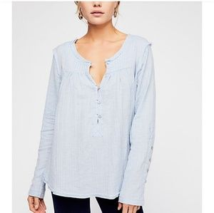 NWT Free People We The Free Sand Dune Henley